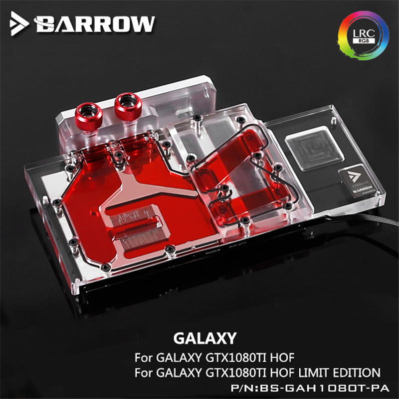 BS-GAH1080T-PA Barrow water cooling block for GALAXY GTX1080TI HOF /LIMIT EDITION graphics card gpu cooler black silver