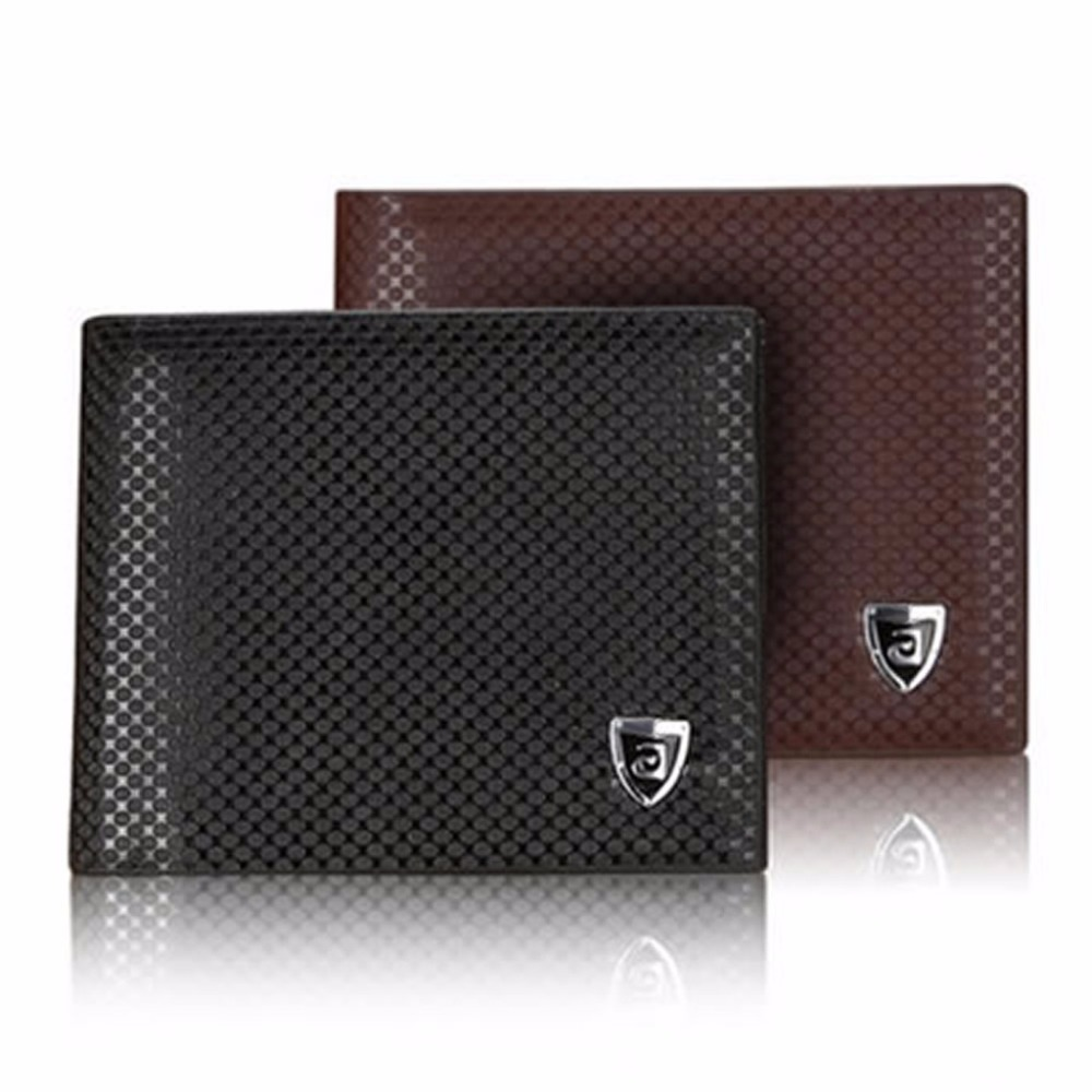 Bifold Wallet Purse Clip Credit-Card-Holder Vintage Mens ID Pockets Used-For