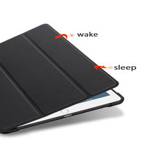 soft tpu TPU Tablets Case For iPad Air 2 9.7 Soft Tri-fold PU Leather Smart Protective Covers With Pen Slot Tablet Case For iPad Air Case (3)