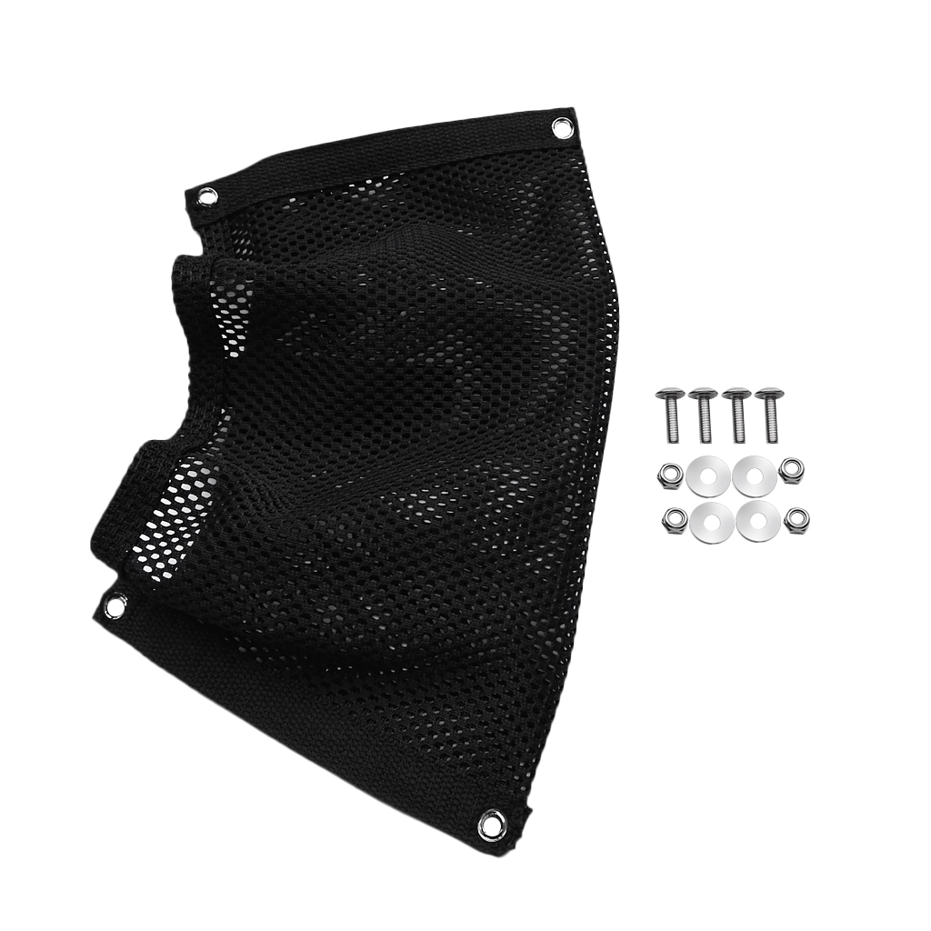 Adjustable Black Nylon Storage Mesh Bag Side Pouch Organizer For Marine Boat Yacht Kayak Canoe Dinghy Gear Accessories