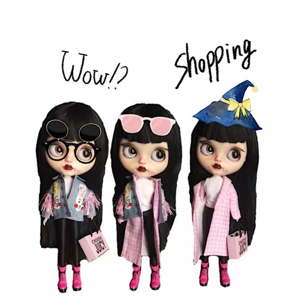 Luxury Shopping bag for Fashion Royalty//Blythe//Barbie//Pullp// Mini Shopping Bag