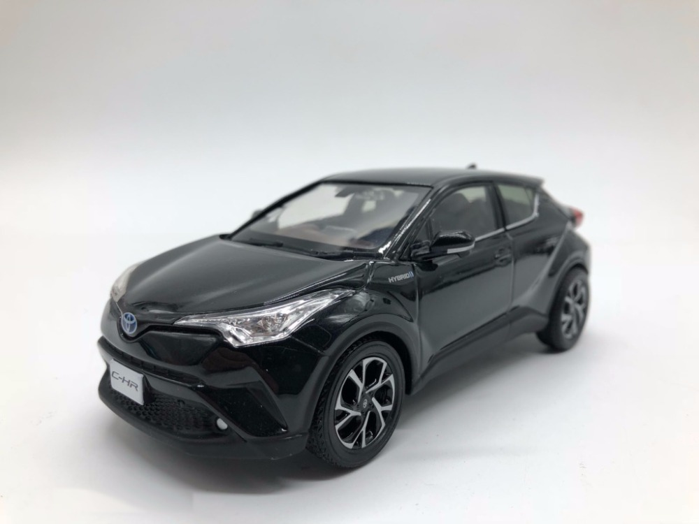 1 30 diecast model for toyota c hr 2017 black alloy toy car collection c hr chr miniature in. Black Bedroom Furniture Sets. Home Design Ideas