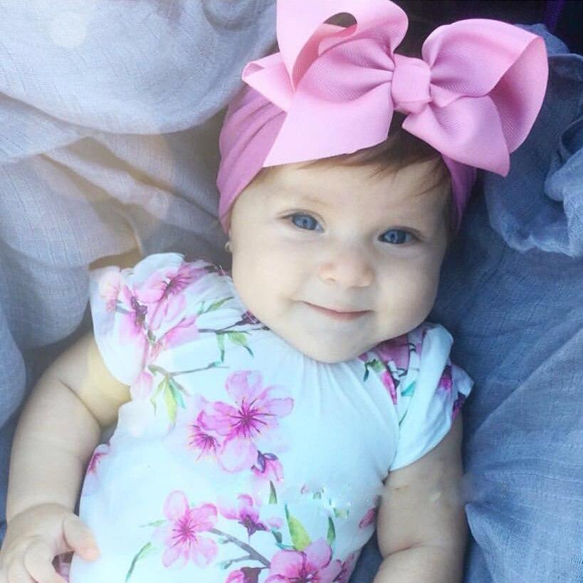 Baby Headband Nylon Baby Girl Headbands Diadema Bebe Recien Nacido Large Nylon Baby Bows Baby Hair Band Turban Accessories