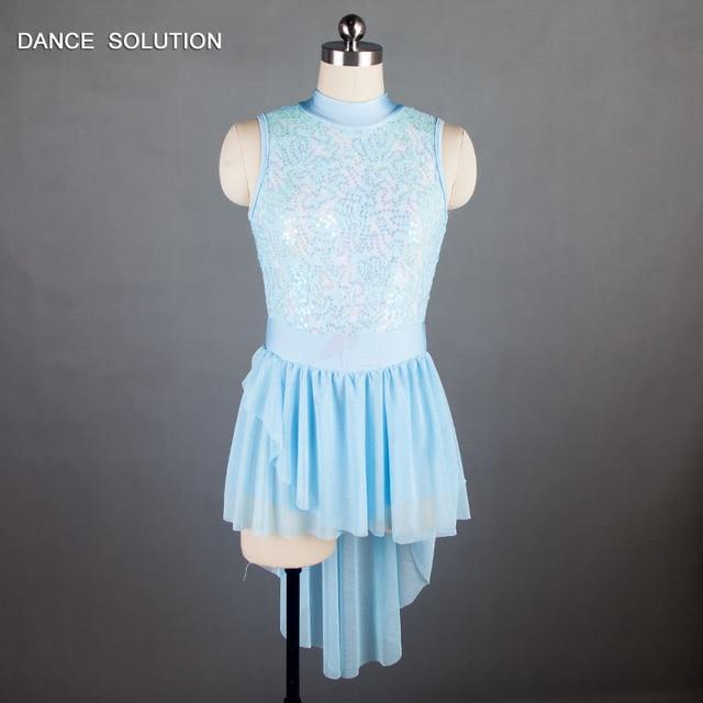 b4dde625b79e Child and Adult Pale Blue Ballet, Lyrical & Contemporary Dance Costume  Sequin Dress Dance Costume