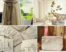 150 cm width plain solid color linen Fabric Cloth hemp jute Fabric table cloth Garments Crafts Accessories