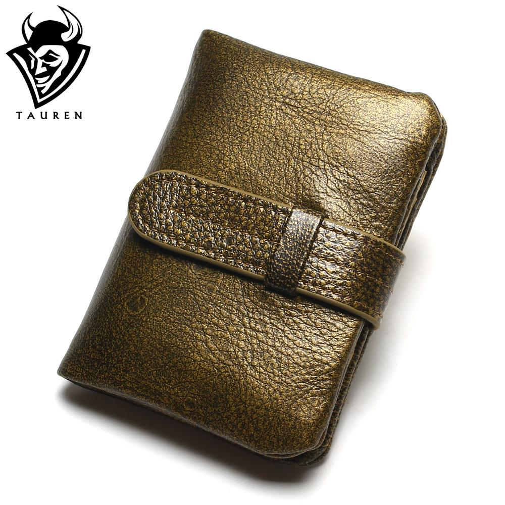 100% Luxury Vintage Casual Real Genuine Cowhide Oil Wax Leather Lady Gloden Color Women Wallets Purse Coin Pocket Female Zipper simline fashion genuine leather real cowhide women lady short slim wallet wallets purse card holder zipper coin pocket ladies