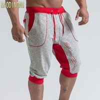 Mens Casual Fashion Cotton Shorts Male 2018 Summer New Jogger Cropped Sweatpants Man Gyms Fitness Drawstring