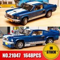 Forded Mustanged 21047 créateur Expert Technic legoinglys Compatible 10265 ensemble blocs de construction voiture briques jouets cadeaux d'anniversaire