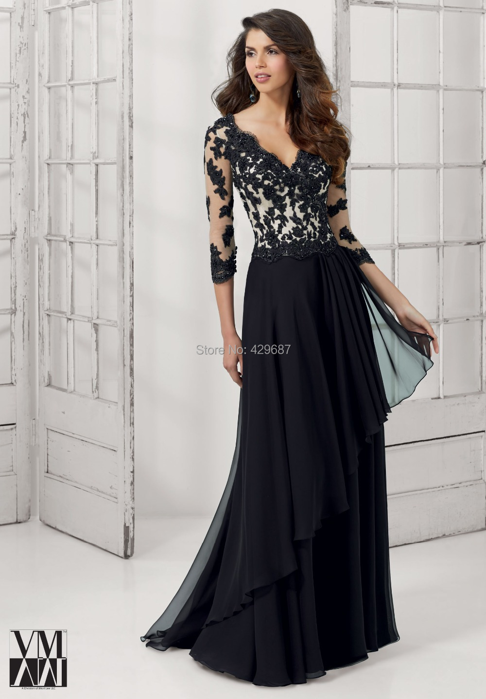 Popular Long Black Evening Gowns-Buy Cheap Long Black Evening ...