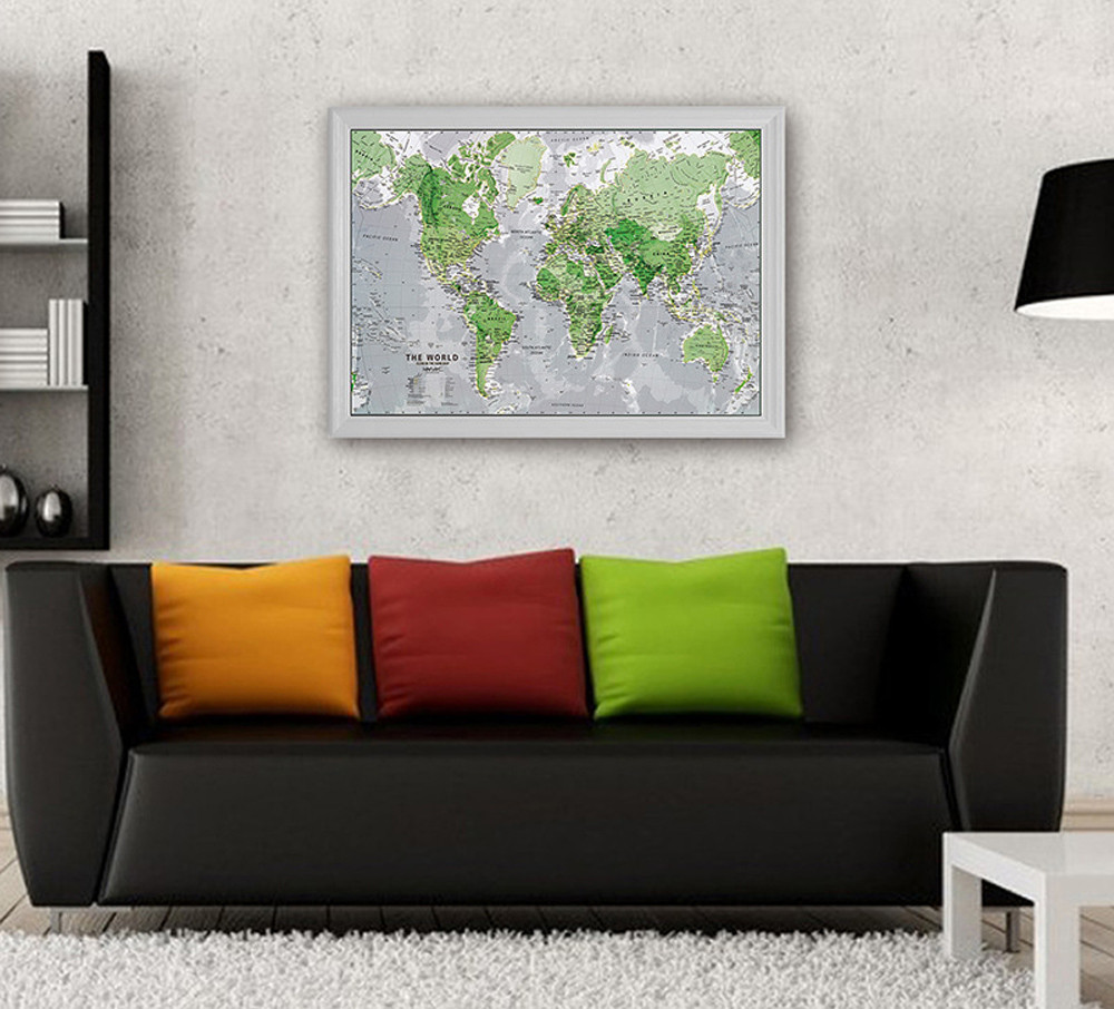 Light Emitting Wallpaper Creative Luminous Map Of World Home Decor Childrens Early