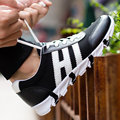 2017 Outono homens Moda Casual Estilo Preppy Masculino Tênis de Corrida Respirável Lazer Plana Sapatos Zapatos Hombre Chaussures G110