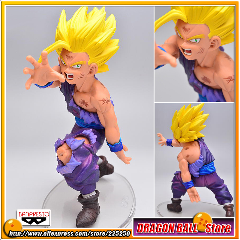 Japan Anime Dragon Ball Z Original BANPRESTO DRAMATIC SHOWCASE Collection Figure 1st season vol.1 - Super Saiyan Son Gohan original banpresto world collectable figure wcf the historical characters vol 3 full set of 6 pieces from dragon ball z