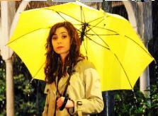 tv show How I Met Your Mother Small Yellow umbrella romantic present girlfriend portable three folding bumbershoot HIMYMsouvenir