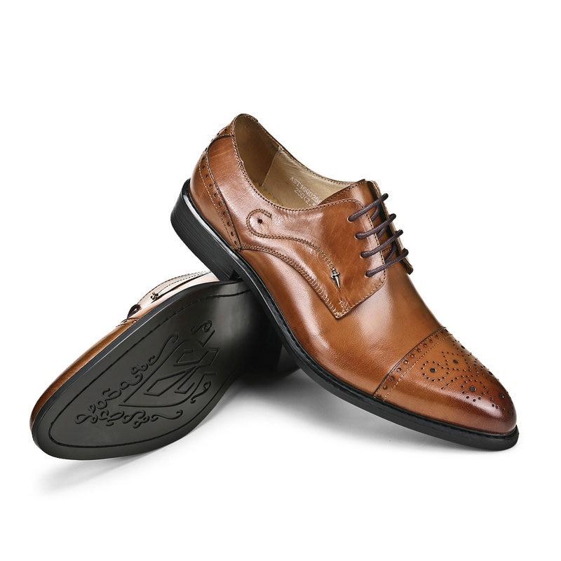 Respirável brown Red Homens Couro Genuíno Sapatos Oxfords Dos Britânico Apontou Casamento De Vestido Business Masculino Black wine Bullock Marca Casual 0xqSwTOHq