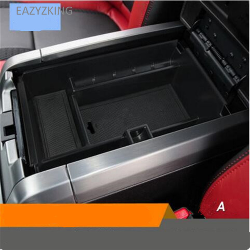 EAZYZKING Car-Styling Dedicated Modified Central Armrest Storage Box Glove Box Tray Pallet case for Ford RAPTOR F150 2014-2018
