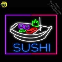 Суши Лодка неоновые вывески Кливленд ручной работы пользовательские Ресторан неоновая Лампа Пивной бар Pub знаковых знак коммерческих супе