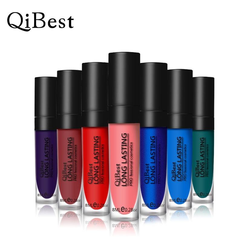 Qibest Lápiz Labial Coreano Batom líquido Belleza Maquillaje - Maquillaje