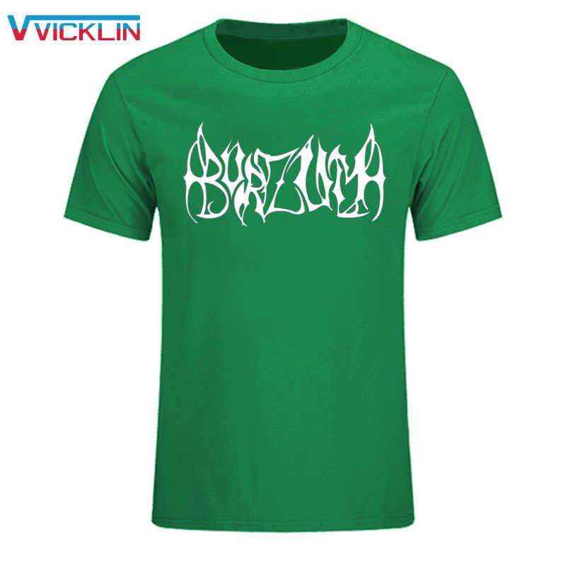 Neue Ankunft Mode Stil burzum Oansatz Baumwolle Kurzen Ärmeln T Hemd Männer burzum Rock Band Print Top T Plus Größe XS-XXL