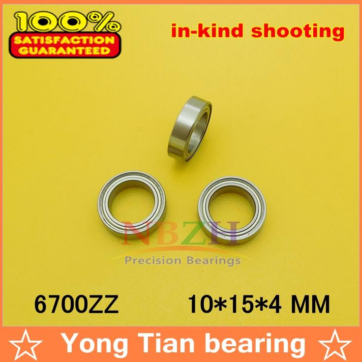 NBZH sale price 10pcs/ lot The high quality ABEC-5 Z2V2 of  deep groove ball bearings 61700Z 6700ZZ 63700ZZ 10*15*4 mm the price regulation of