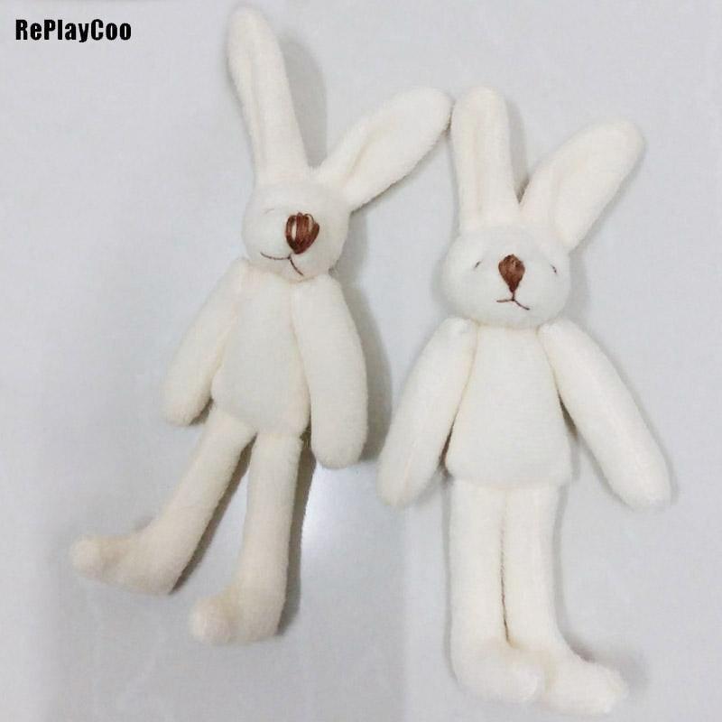 100Pcs Lot Kawaii Mini Bunny 11CM Plush Toys Cute Rabbit Soft Stuffed Animal Toys Small Pendant