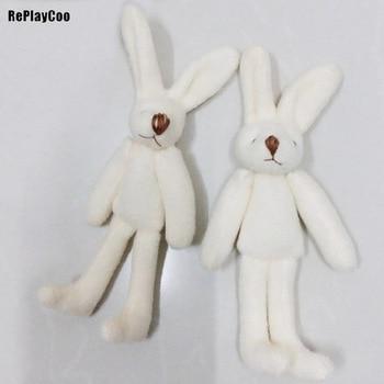 100Pcs/Lot Mini rabbit Stuffed Plush Toys 11cm Small rabbit Stuffed Toys pelucia Pendant Kids Birthday Gift Party Decor 02601