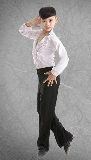 a19e1246940a6 boy children latin child shirts white kids modern dance costumes for boys  mens ballroom shirts dancing clothes tango dancing