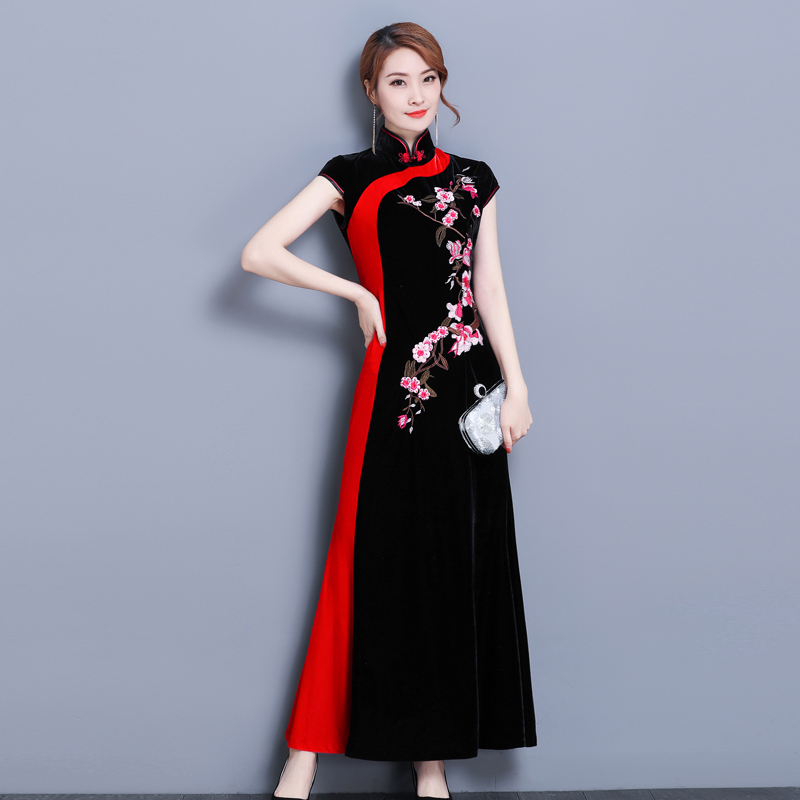 3f69c87eb Buy embroidery qipao dress and get free shipping on AliExpress.com