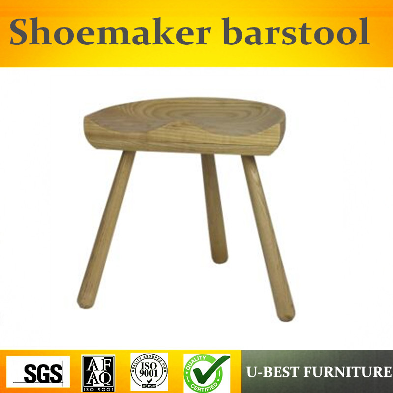 Free Shipping U-BEST Danish Mid Century Design Three Legged Lars Werner Shoemaker Bar Stool Replica