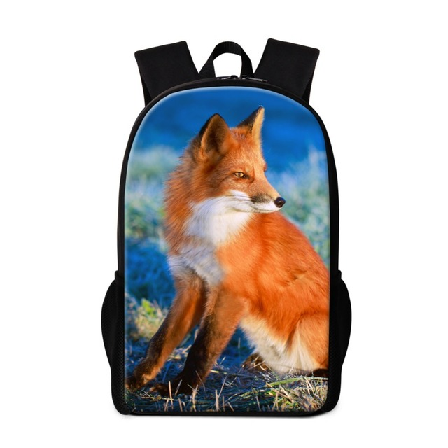 Fox Backpacks for Teenager Girls School bags Stylish Animal Pattern for Boys Coolest Bookbags Lightweight Back Pack Magazine