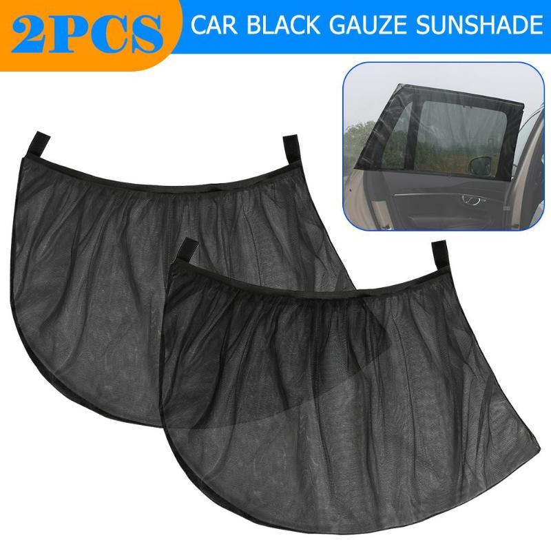 2 шт. 90 х 45 см/3.0x1.5ft автомобильный козырек от солнца, Шторы сзади боковое окно Навес сетки летние защитная пленка от уф