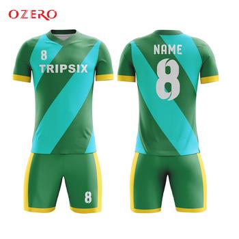 Zwykły zielony dla dzieci tanie koszulka piłkarska ubrania zestaw tanie i dobre opinie Koszulki Piłka nożna Sprężone Przeciwzmarszczkowy Oddychająca Anti-shrink Szybkie suche OZERO Polieterosulfonowa Poliester
