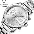 cadisen watches men luxury brand Swiss clock reloj relogio masculino military quartz watch full stainless steel men wristwatch