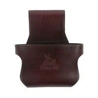 Tourbon Tactical Hunting Shotgun Holster Waist Leather Belt Brown Rifle Buttstock Holder Belt Carrier Gun Accessories