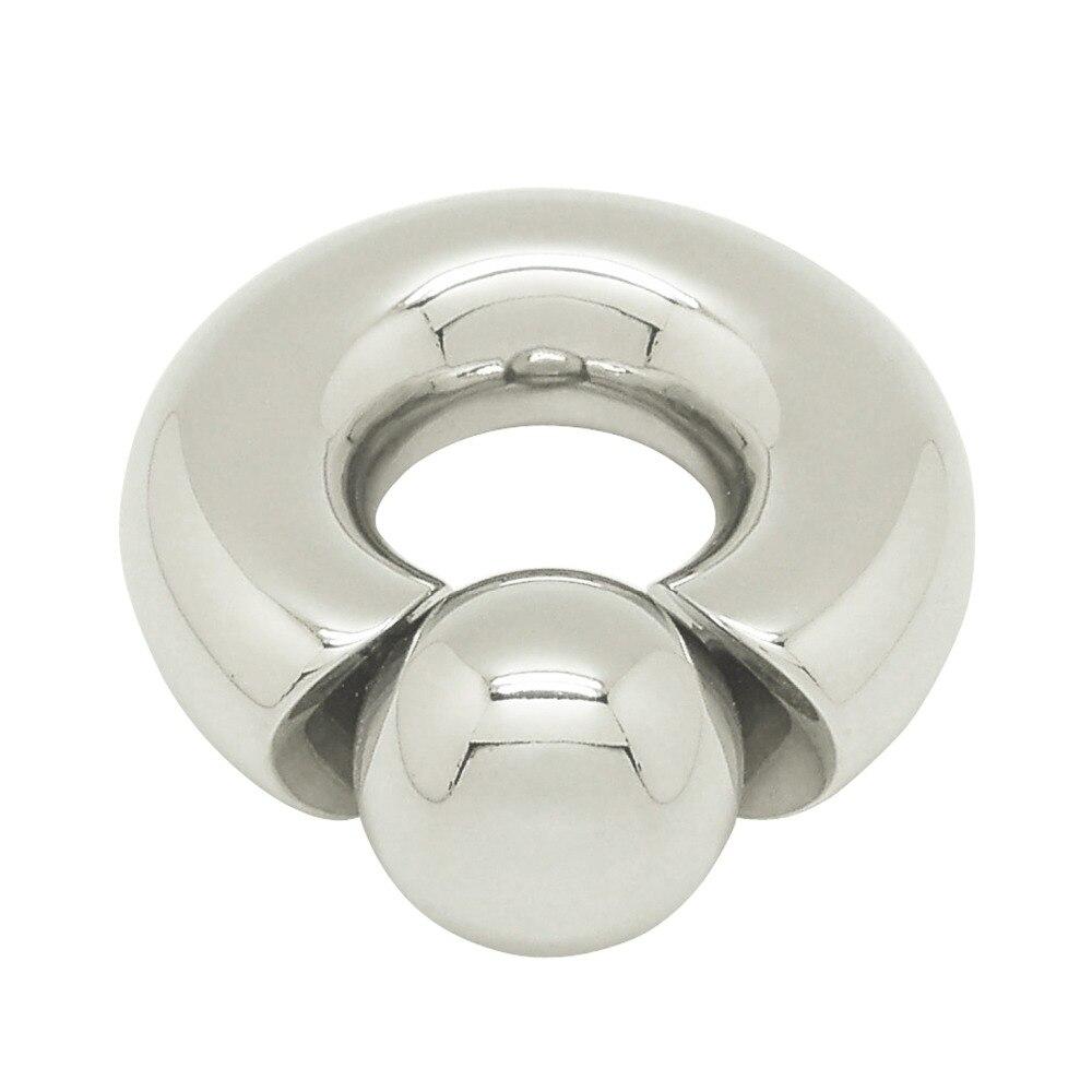 Anneau de perçage en acier inoxydable 12mm x 19mm bijoux corporels mamelon génital grand calibre piercing anneau de pénis anneau de pénis