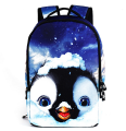 18 Inch Men Women Backpacks 3D Animals Backpacks Penguin School Bag For Girls Boys Students Children's School Bag Backpack