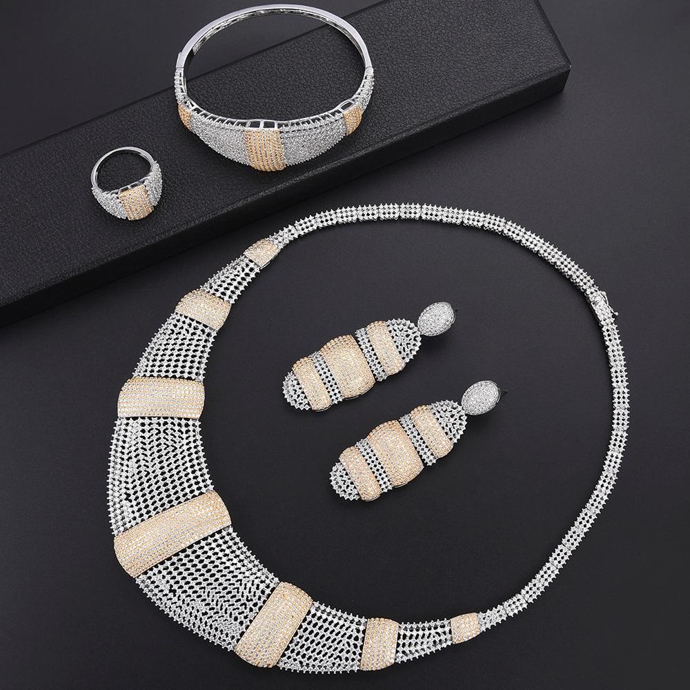 missvikki Hot Super Design Women Jewelry Sets Statement Necklace Bracelet African Beads Crystal Wedding Bridal Party Set