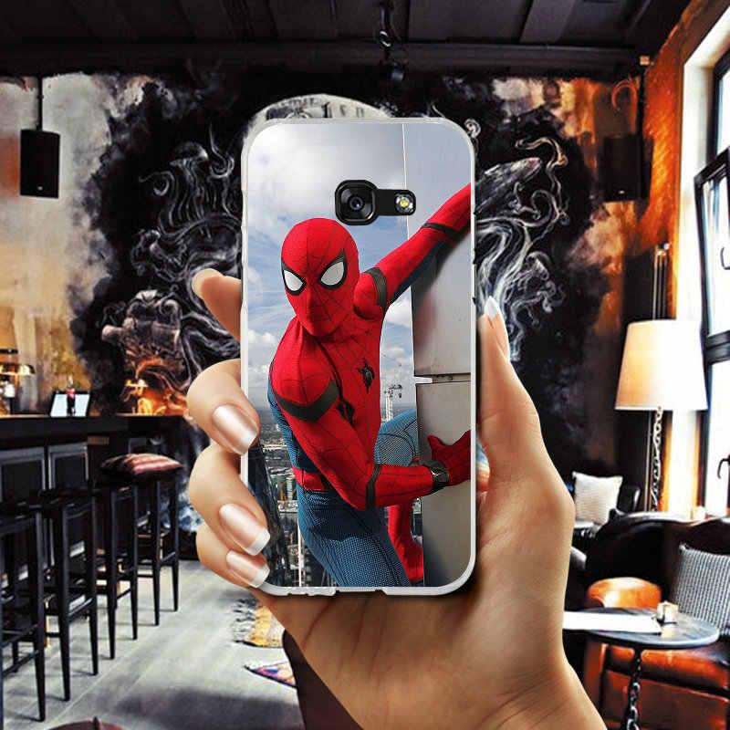 """Мягкий чехол-накладка для мобильного телефона из ТПУ чехол для Samsung Galaxy A3 A5 A7 J1 J2 J3 J4 J5 J6 J7 2016 2017 2018 в виде ракушки супергероя """"Человек-паук"""" для выпускного вечера"""