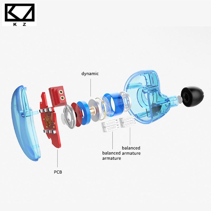 KZ ZS10 auriculares 10 conductor en auricular 4BA + 1DD dinámica armadura auriculares HiFi Bass auriculares de cancelación del ruido oído monitores híbrido - 3