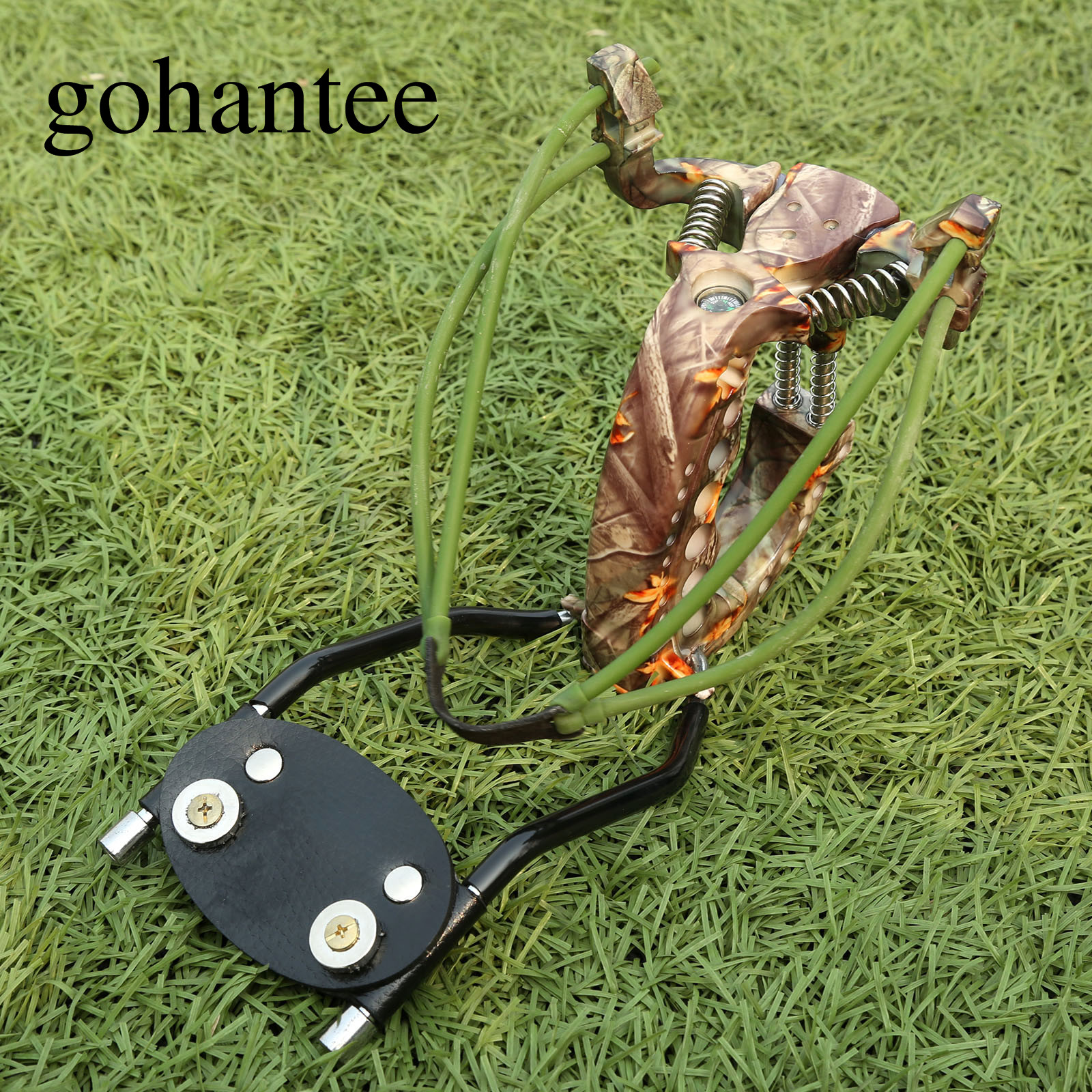 gohantee Professional Strong Powerful Heavy Duty Slingshot with Folding Wrist Brace Outdoor Hunting Slingshots Catapult Shooting