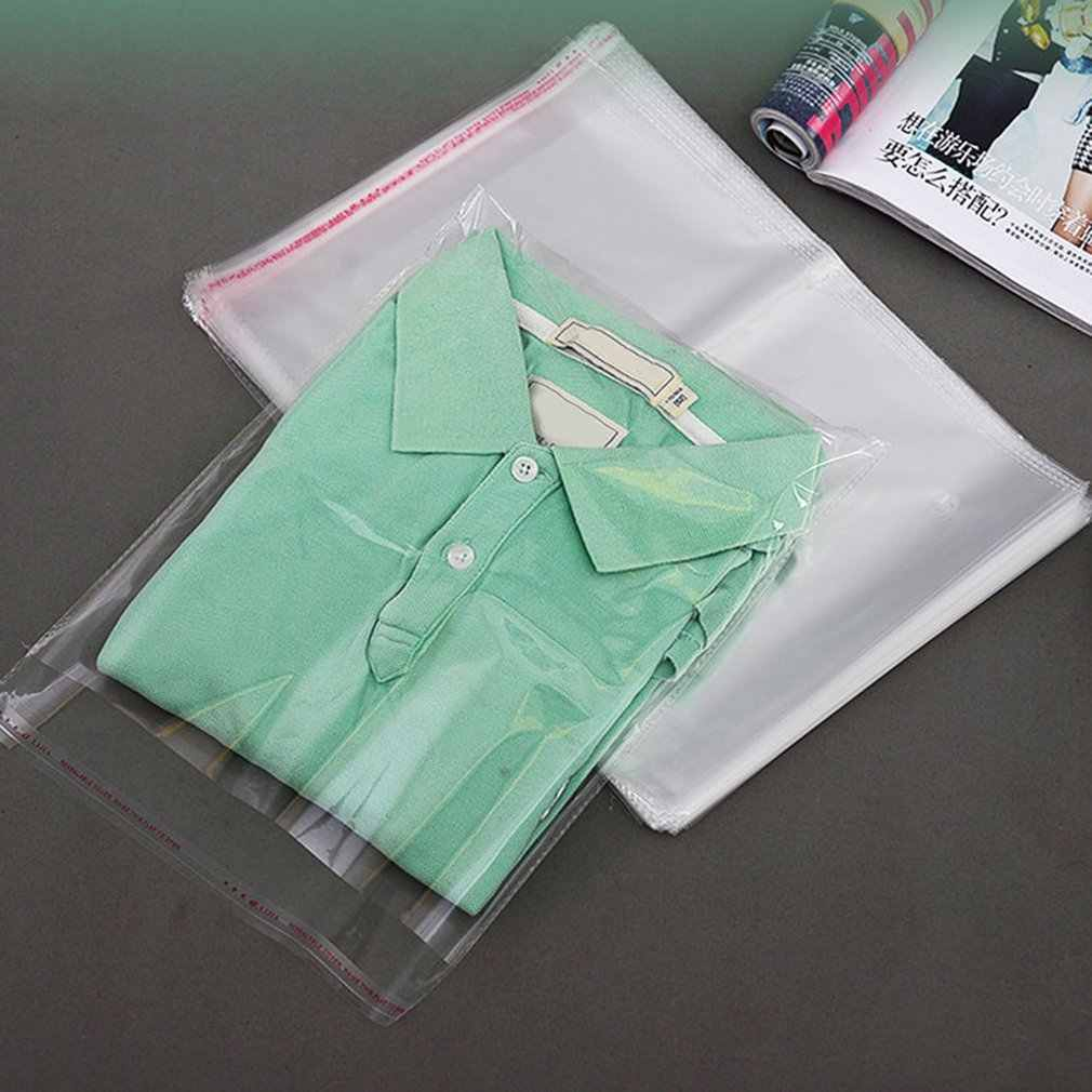 Wholesale Clear Ziplock Food Storage Bags 100pcs/set Jewelry Ziplock Reclosable PE Transparent Poly Bags Home Storage