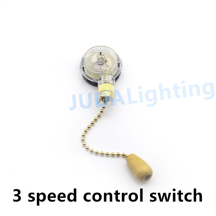 Ceiling Fan Switch Pull Chain Cable Wire Cord 3 Speed 3 Level Control Zipper Switch With Bead Chain Fan Lighting Accessories DIY