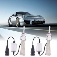 newest 1Pair A8 H10 Car LED Headlamp Bulb Head lights Replace Xenon Headlights 5500LM 12V-36V 120W 6000K LED Chip White