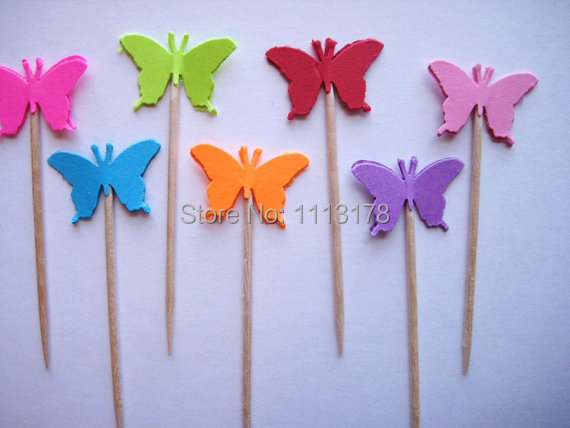 cheap butterfly party picks cupcake toppers toothpicks food pick