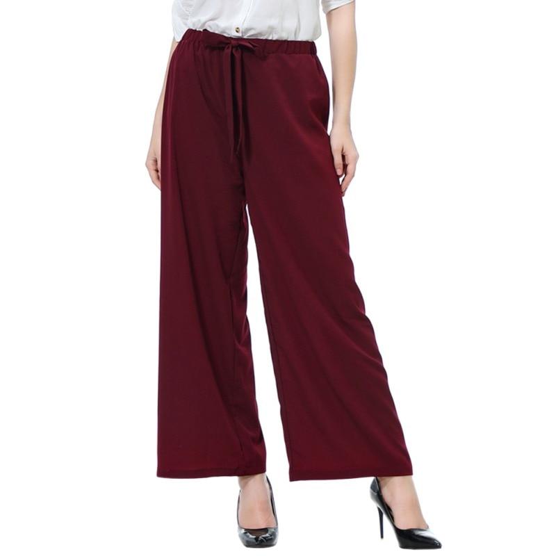 Ladies   Pants   Fashion Loose Long   wide     Leg     Pants   Women High Waist Casual   Pants