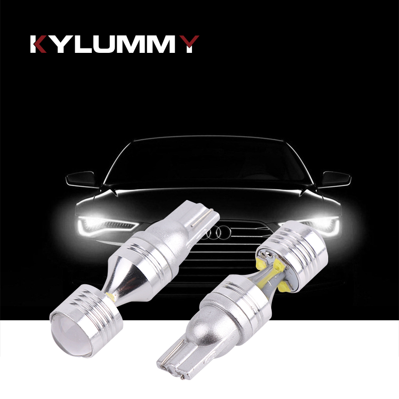 2Pcs T10 W5W LED High Bright 30W Car Clearance Light Bulbs Width signal lamps 6 CREE CSP Chips Lens Spotlight Erro Free Canbus t10 3528 3w white light 21 led car signal light bulbs 2 pack dc 12v