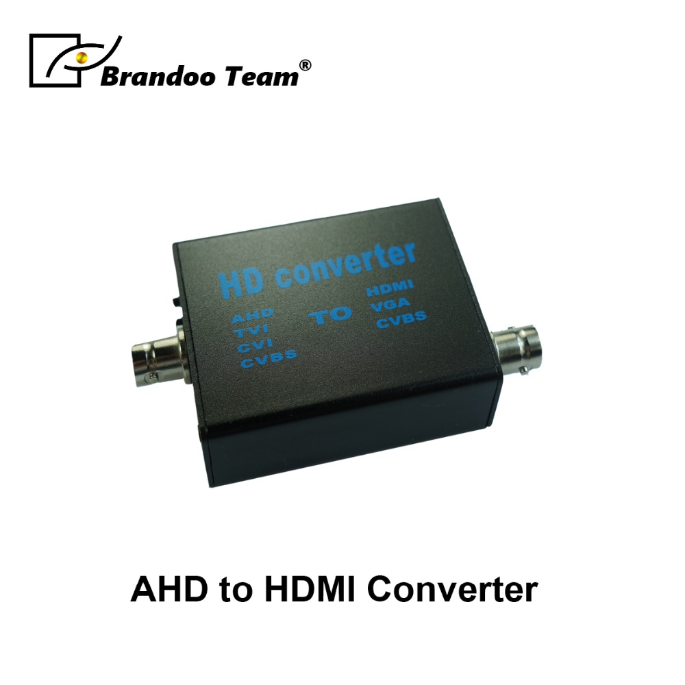 BRANDOO Newest 4 In 1 AHD/TVI/CVI/CVBS To HDMI/VGA/SVBS Video Signal Converter .Factory Direct Free Shipping