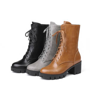 Image 5 - MORAZORA 2020 new style ankle boots for women round toe autumn winter boots zipper lace up platform boots punk shoes woman