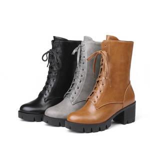 Image 5 - MORAZORA 2020 جديد نمط حذاء من الجلد للنساء جولة تو الخريف الشتاء الأحذية سستة الدانتيل يصل منصة الأحذية فاسق أحذية امرأة