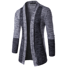 Men's Sweater 2017 Winter New Male Brand Casual Jersey Long Mens Cardigan Contrast Color Slim Fit Homme Sweaters Men Knitwear