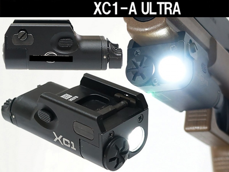 Tactical Ultra Light Compact Pistol Revólver Lanterna Paintball Airsoft Militar Caça Luz Arma Cqc Xc1